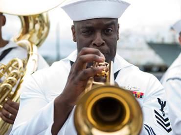 2020 December Park Bench US Navy Bands 410