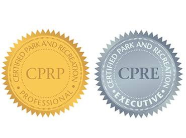 2021 February We Are Parks and Rec Congratulations to the Newly Certified Professionals and Executives 410