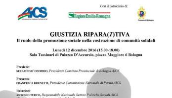 GIUSTIZIA RIPARA(T)TIVA Il ruolo della promozione sociale nella costruzione di comunità solidali