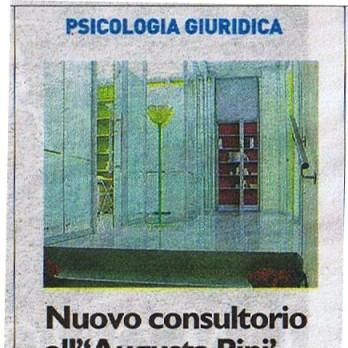 Apertura del nuovo Dipartimento di PSICOLOGIA GIURIDICA presso il Consultorio Augusta Pini