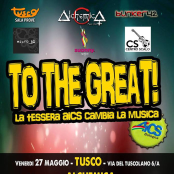 To the great! La tessera AICS cambia la musica!