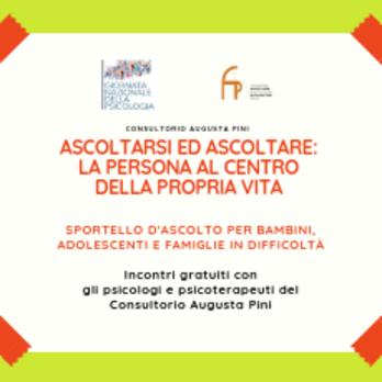 Sportello psicologico gratuito per bambini, adolescenti e famiglie
