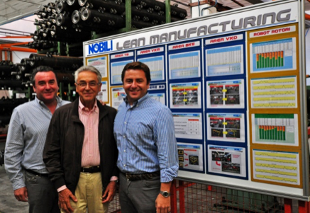 Fig. 1. Da sinistra, Guido, Mario e Giancarlo Rossi