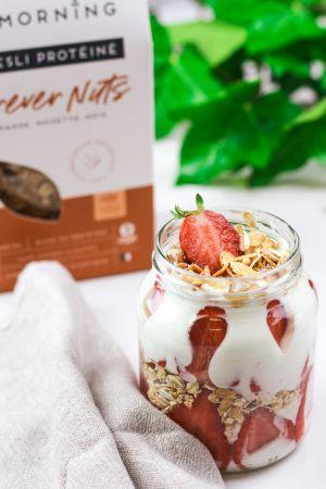 La version gourmande : un parfait aux fraises
