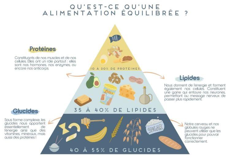 Pyramide alimentation équilibrée