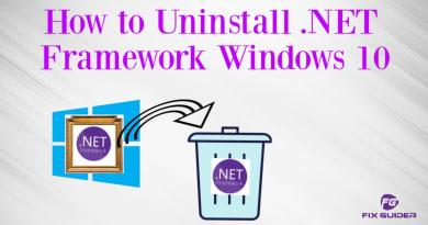 How to Uninstall .NET Framework Windows 10