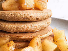 Salted Caramel Apple Protein Pancakes