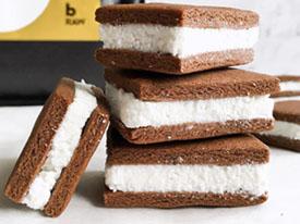 Double Stuffed Choc Coconut Protein Cream Biscuitst