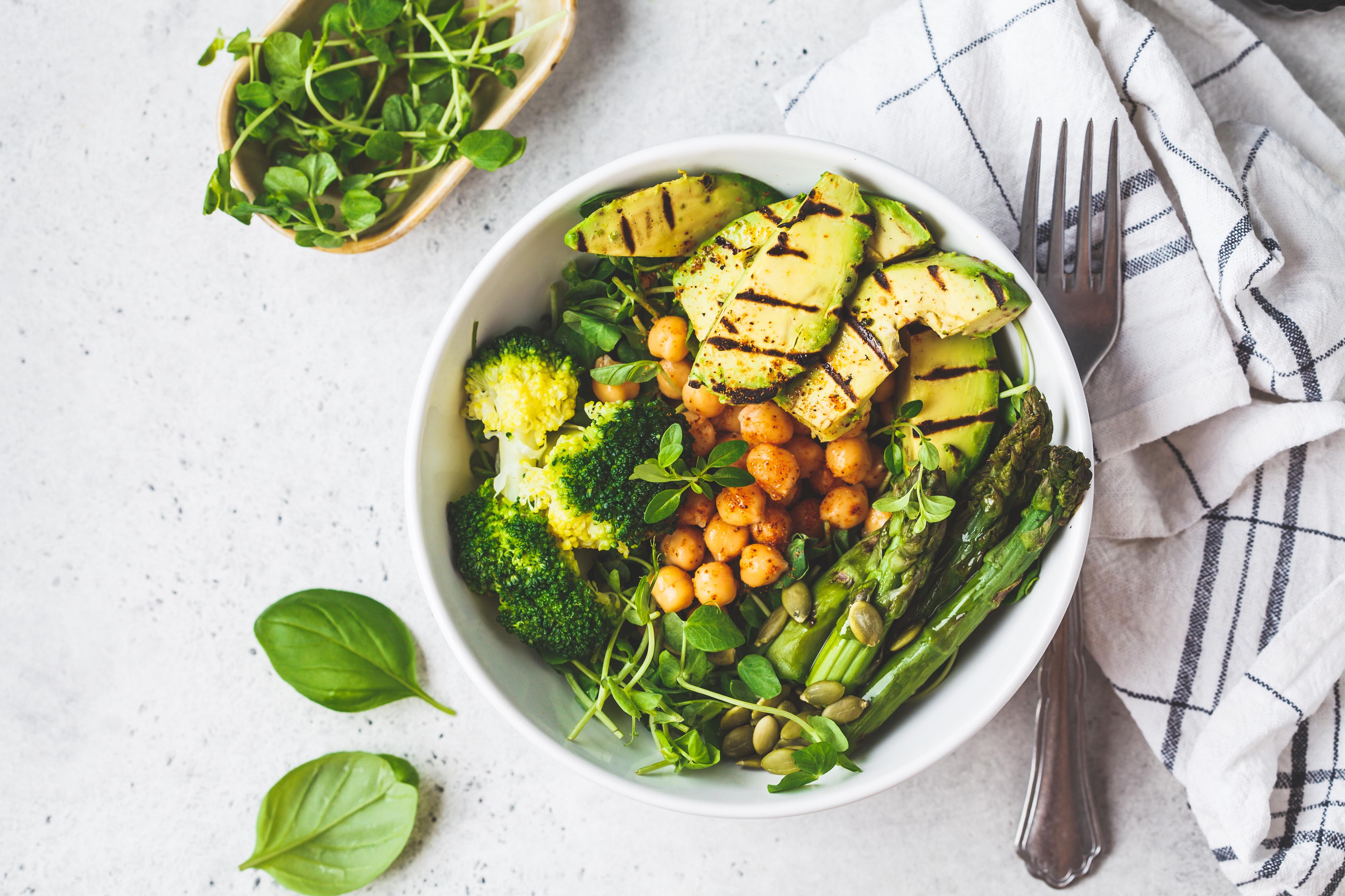 Vegan keto food bowl