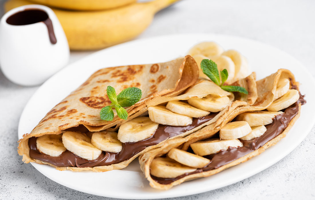 Get In Shape With Banana Crepes