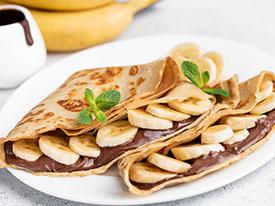 Protein banana crepes