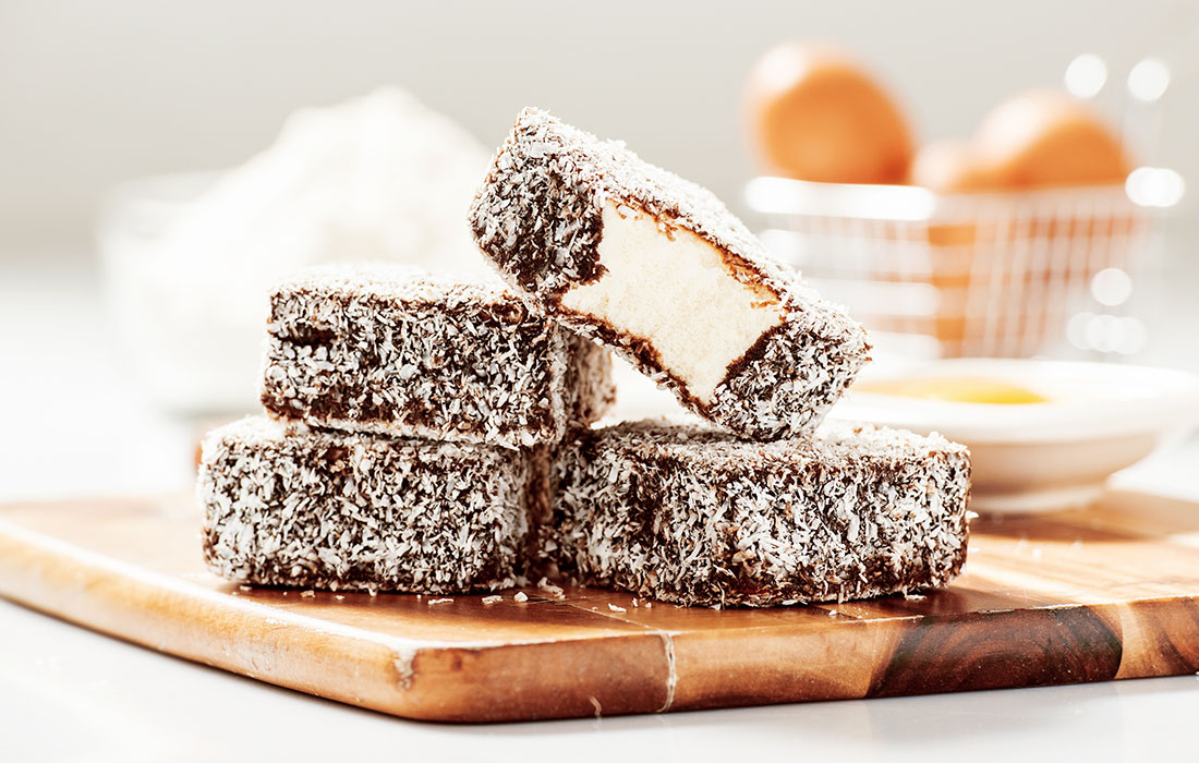 Say G'Day To These Protein Lamingtons