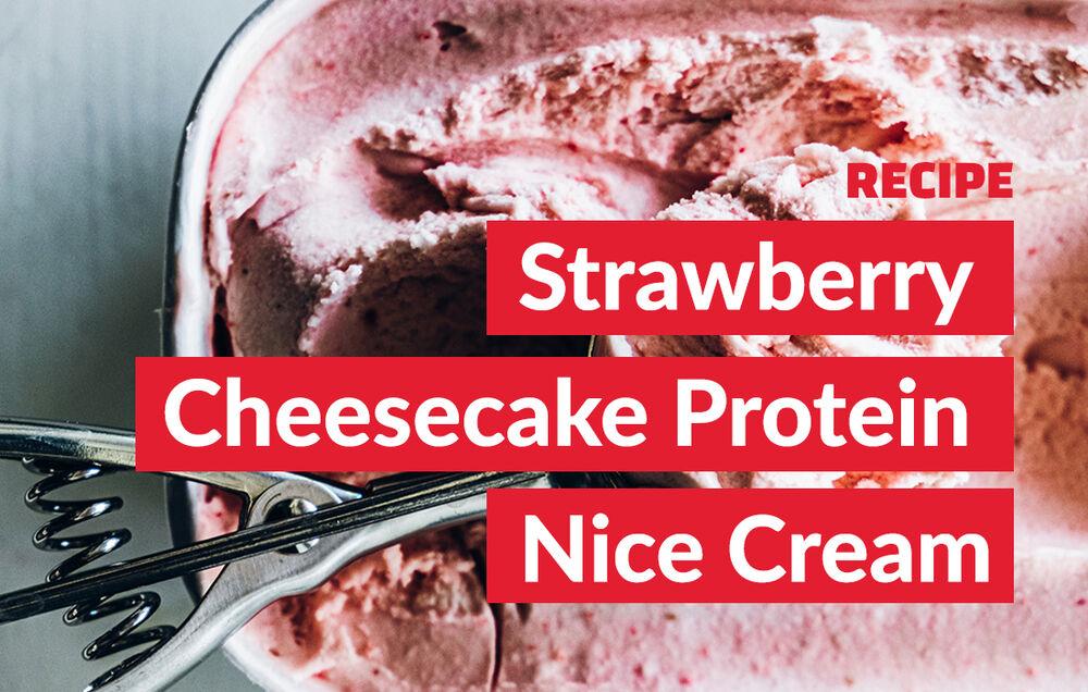 Strawberry Cheesecake Protein Nice Cream