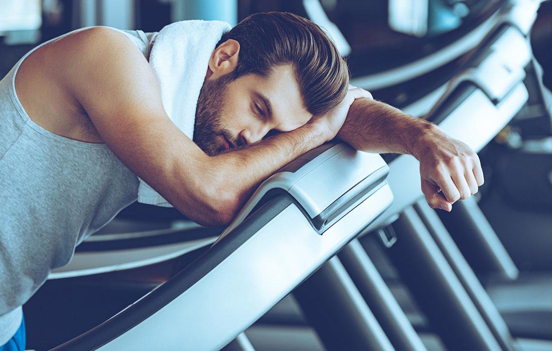 tired on treadmill