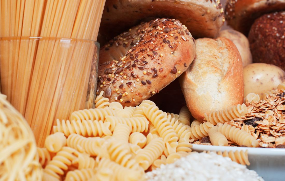 pasta, bread and carbs