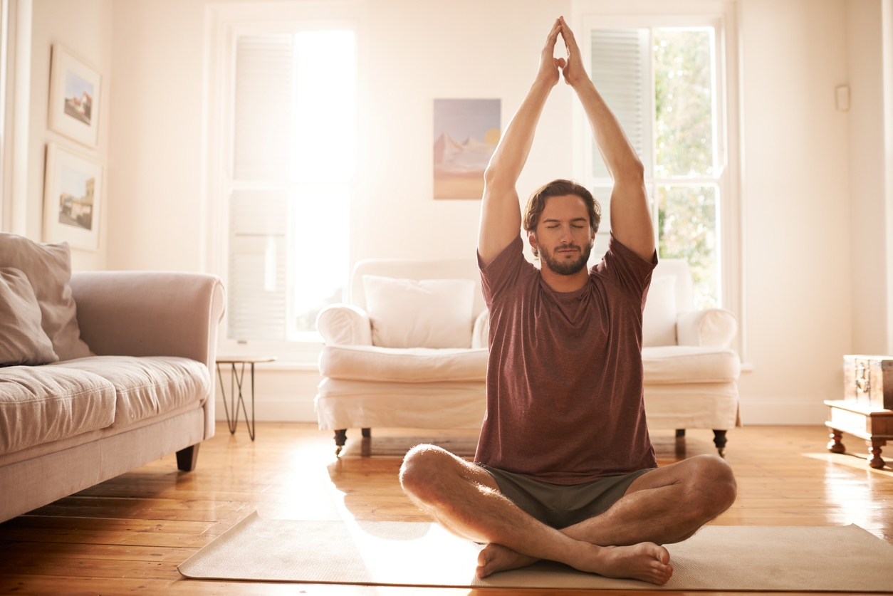 man yoga meditation