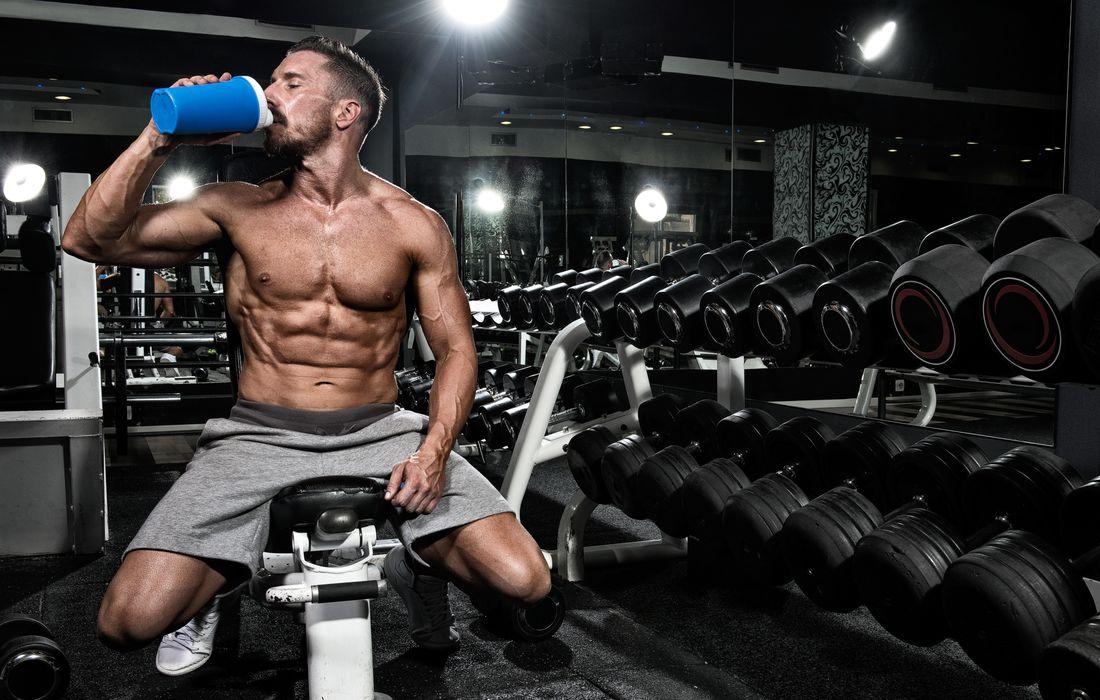 drinking whey protein