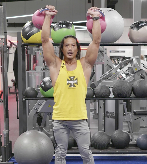 shoulders lateral raise with a band