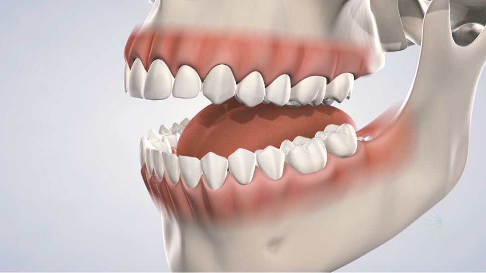3D illustration of a mouth