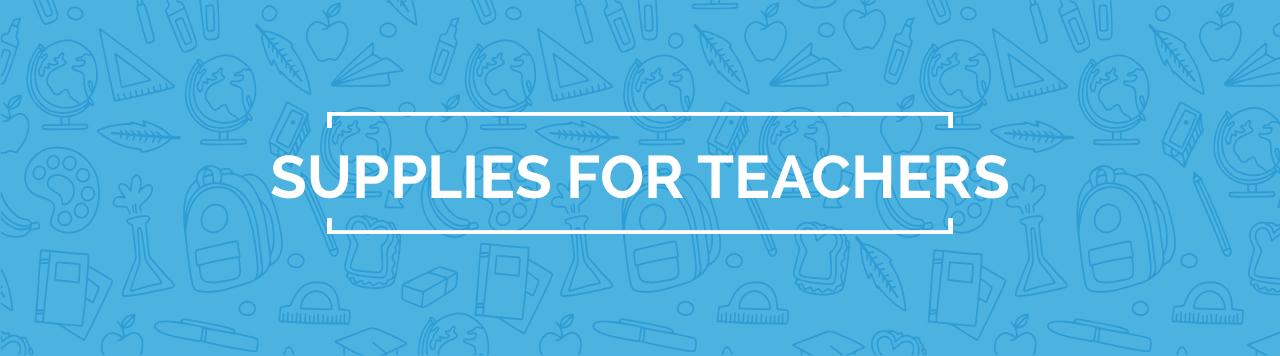 Supplies for Teachers banner