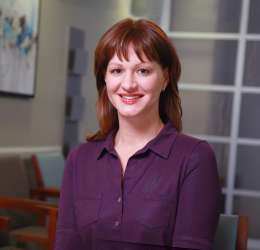 Meet Dr. Leukart. She refers her patients to Greater Columbus Oral Surgery & Dental Implants.