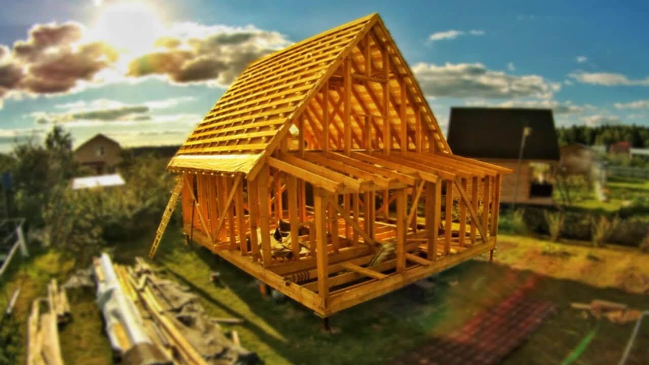 Колонная конструкция деревянного дома