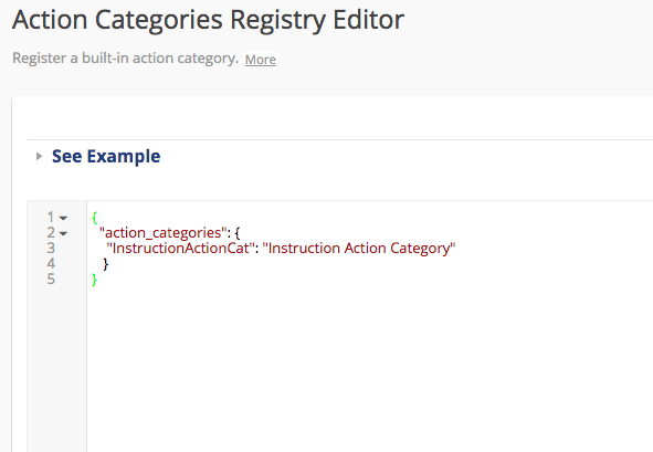 Action Categories Registry Editor