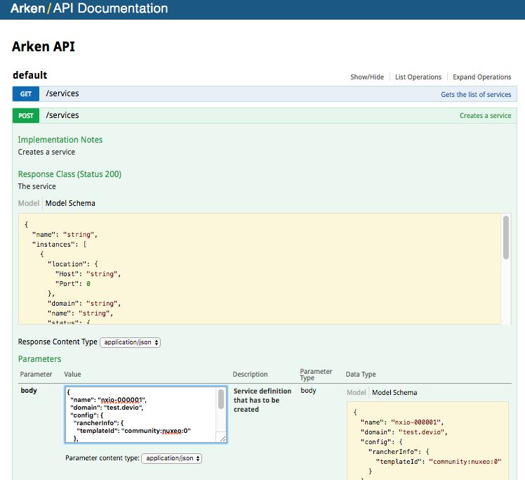 Arken API Documentation