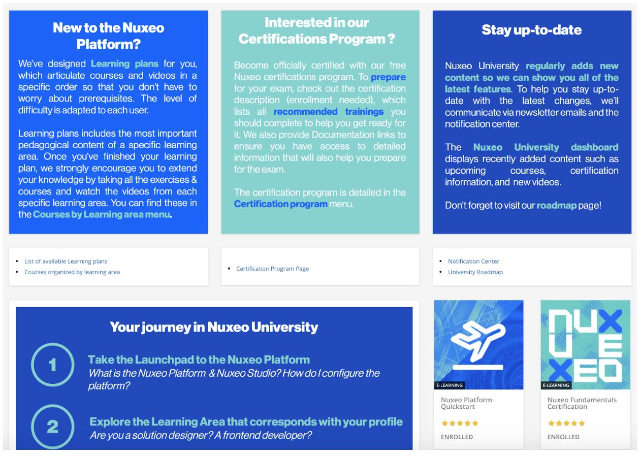 学習分野で分類された教育コンテンツ