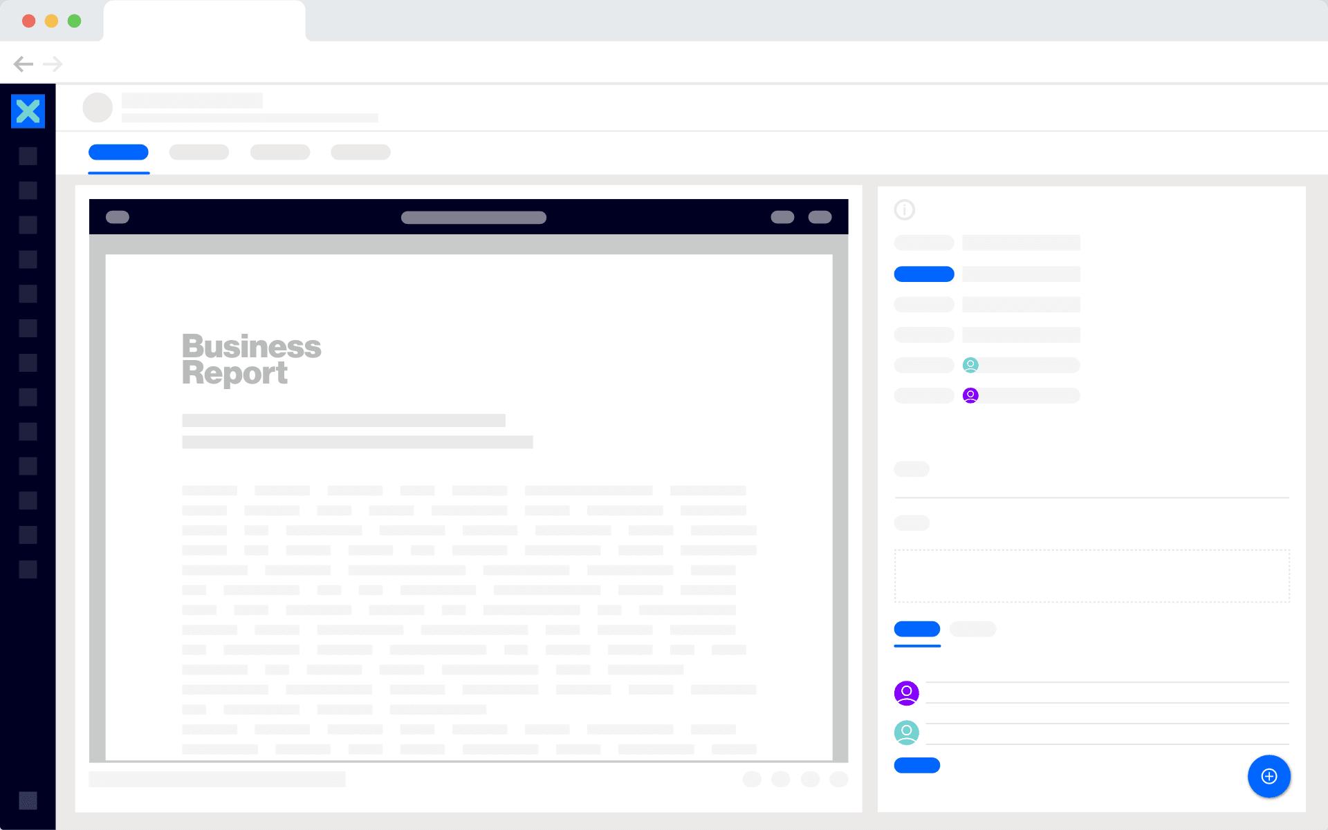 "Nuxeo <div class=""is-blue"">Content-Plattform</div>"