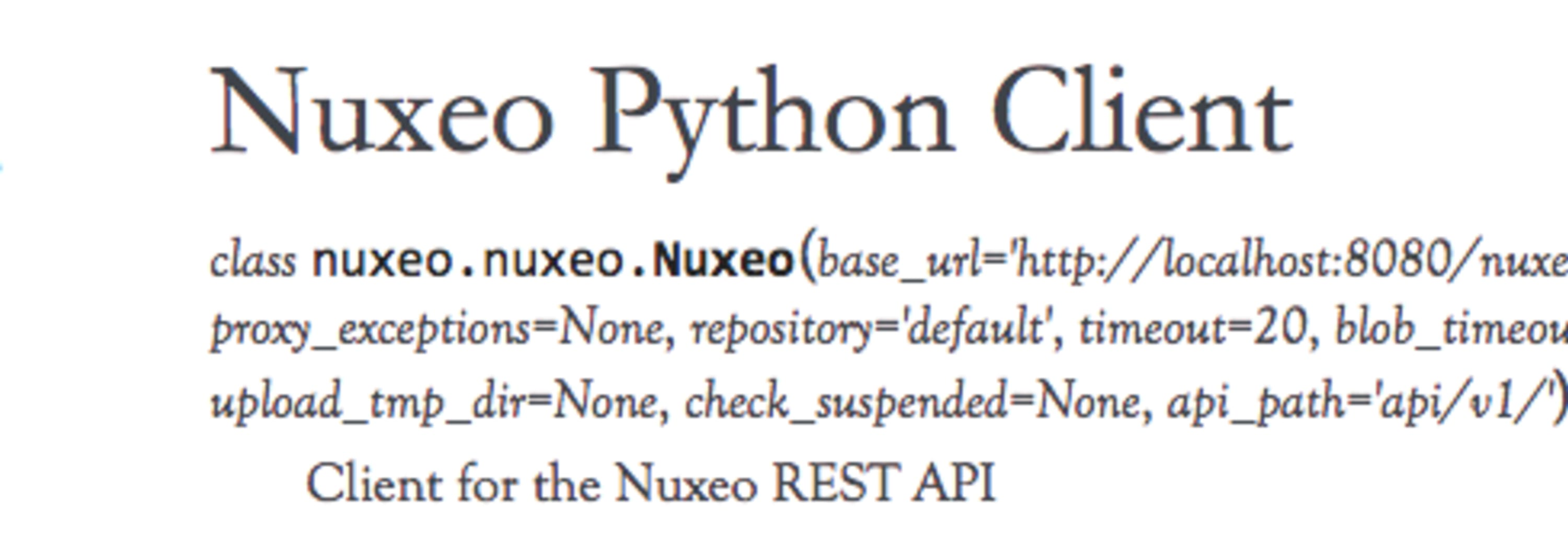 A Python Client Library for Nuxeo Automation and REST API