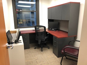 office desk and window