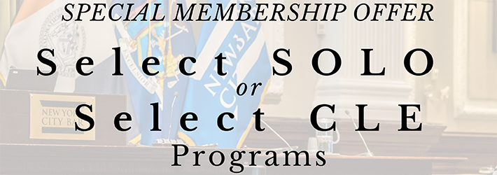 Save on CLE - Select SOLO CLE and Select CLE Programs