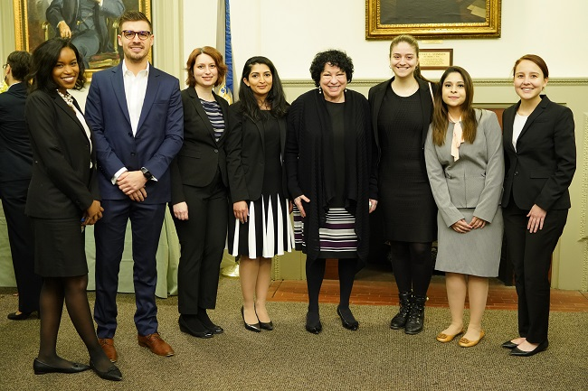 Student Ambassadors and Justice Sonia Sotomayor