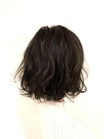 【切りっぱなし】黒髪ボブ