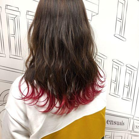 テールカラー×ピンク