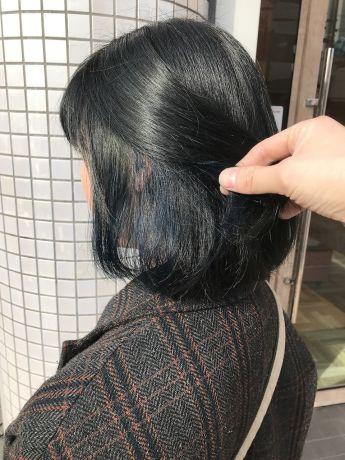【NYNY新田辺】鈴木限定インナーカラーブルー
