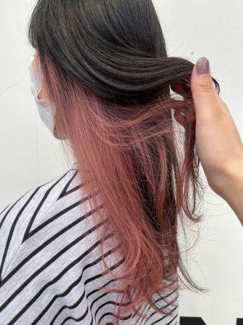 インナーカラー ♡フラッシュピンク