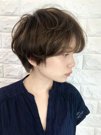 【小顔カット】ニュアンスパーマのマッシュショート