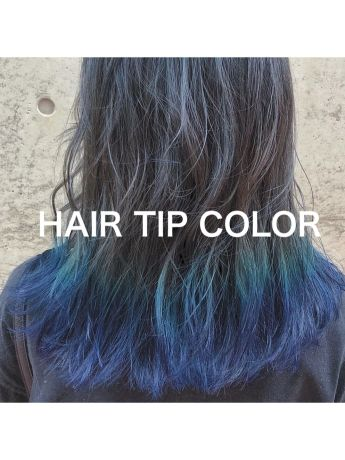hair tip color