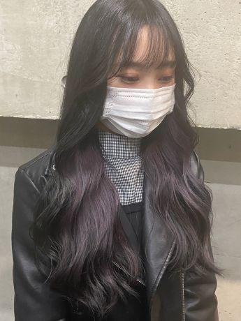 BLUE BLACK × inner purple