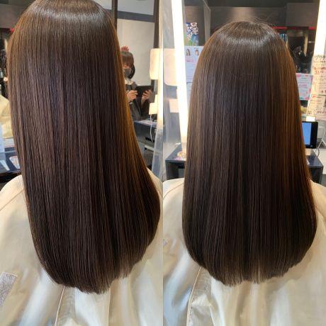 酸熱髪質改善+プラチナアクア