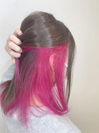 インナーカラー『ピンク系』