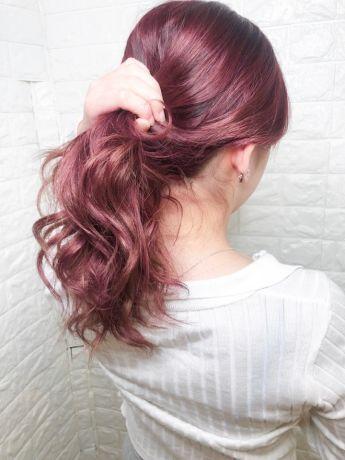 【ブリーチ一回】ピンク・パープル