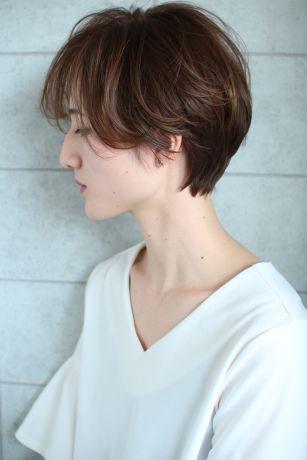 【小顔カット】小顔に見えるハンサムショートヘア