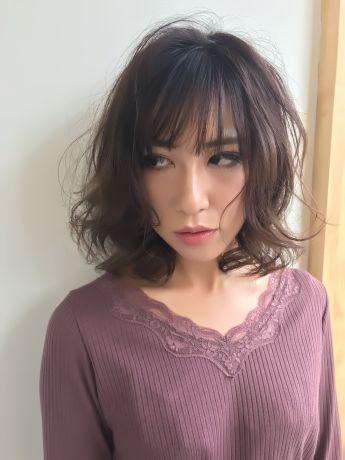 【小顔カット】抜け感カールのミディアム