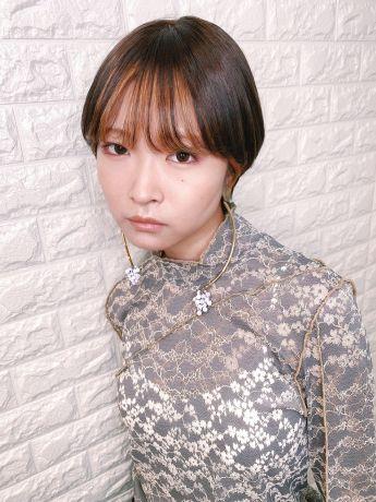 マッシュショート【前髪インナーカラー】