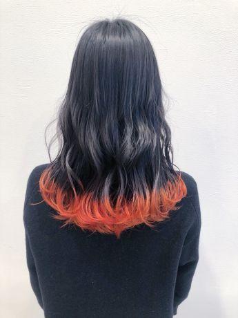 【裾カラ―】レッドオレンジ
