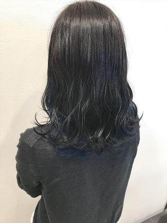 ナチュラルブラック × インディゴブルー