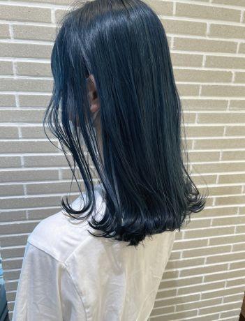 韓国風ディープブルーカラー